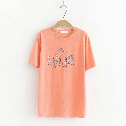 *ORead*短袖棉質寬鬆百搭印花T恤(4色F碼) 1