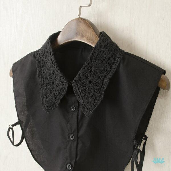 viNvi Lady 刺繡布蕾絲襯衫領片 假領片 內搭領子