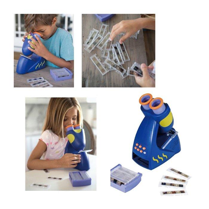 【晴晴百寶盒】美國進口 無毒會發聲的顯微鏡 創意兒童認知觀察力訓練玩具 送禮禮物禮品 創意寶寶早教益智遊戲 W163