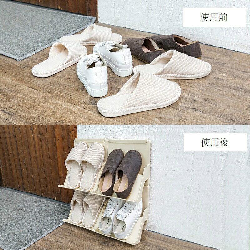 現貨供應▶簡易塑料鞋架家用可疊加多層鞋托宿舍省空間門口小鞋架