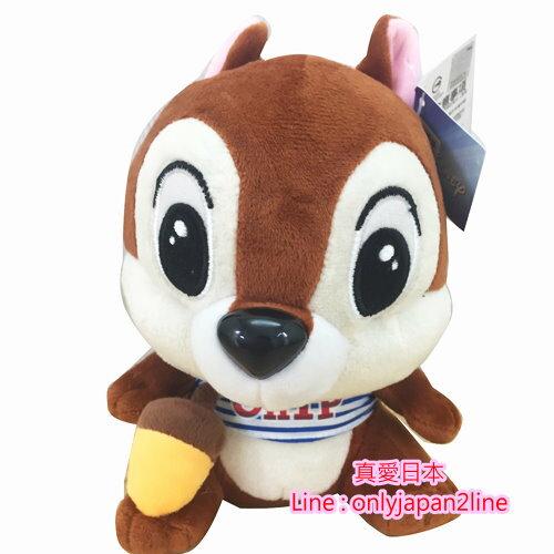 【真愛日本】160913000037吋吊娃-T恤奇奇拿栗子  迪士尼 花栗鼠 奇奇蒂蒂 松鼠 娃娃 吊飾
