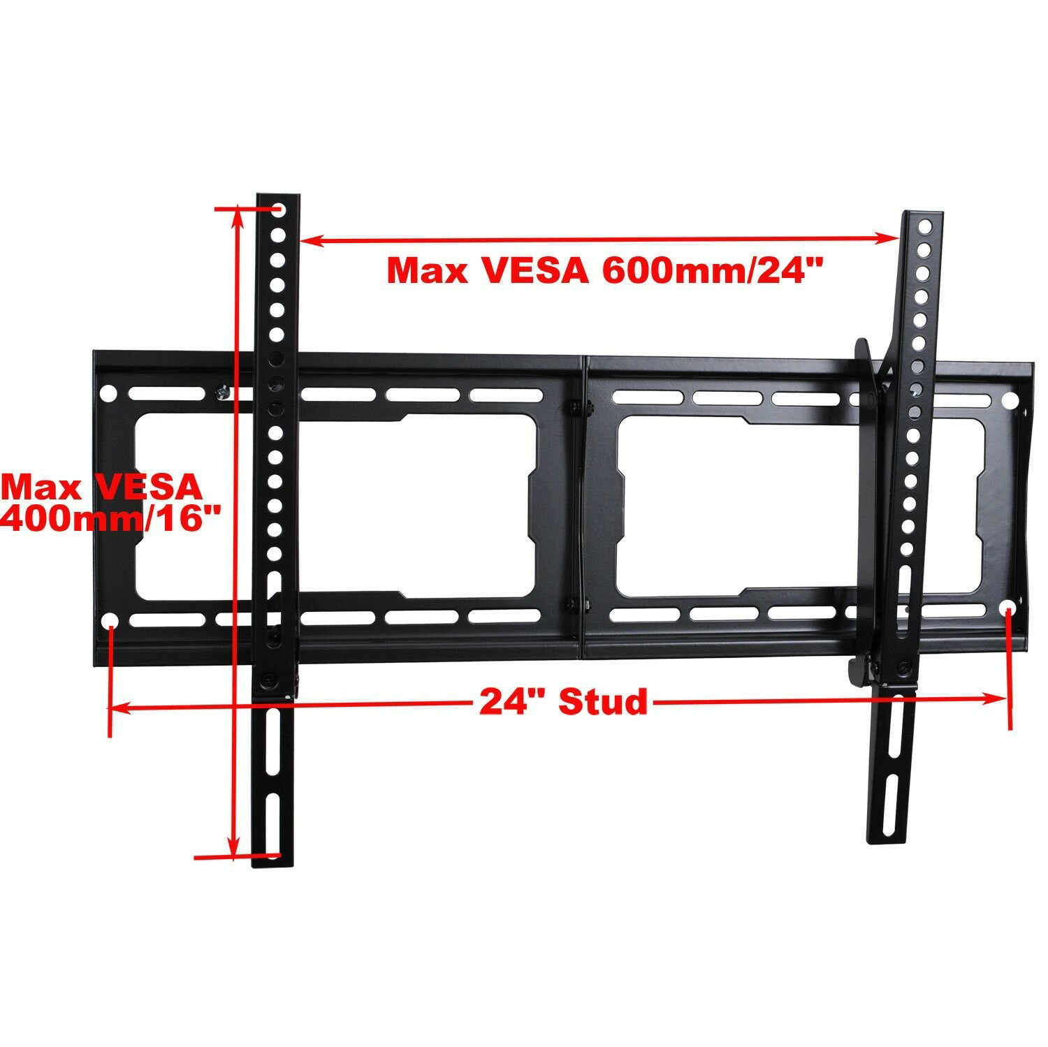 """VideoSecu One Touch Tilt TV Wall Mount Bracket for most 24 27 32 37 39 40 42 46 47 50 55 57 58 60 64 65 70"""" LCD LED HDTV UHD Plasma Flat Panel Displays with VESA 600x400 /400x400mm  Free 10ft HDMI Cable & Bubble Level MDA 1"""