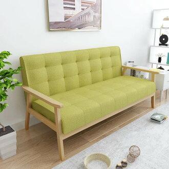 !新生活家具! 布沙發 亞麻布 皮沙發 三人沙發 綠色 北歐風 《悠閒午後》工廠直營 非 H&D ikea 宜家