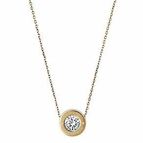 【MICHAEL KORS】MK 正品 Michael Kors Logo Crystal Necklace 項鍊 (金\銀\玫瑰金 共3色)【全店滿4500領券最高現折588】