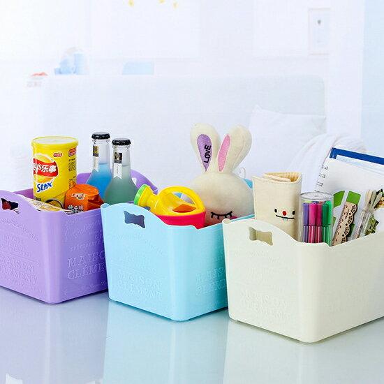 ♚MY COLOR♚時尚雕花桌面收納盒(大) 手提 雜物 分類 浮雕 化妝品 浴室 客廳 臥室【A21】