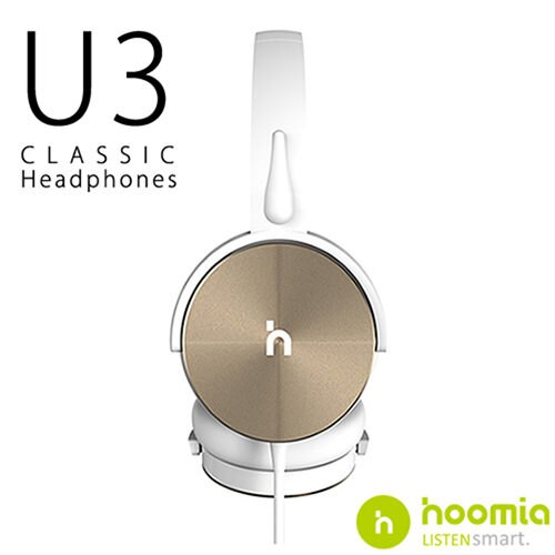 Hoomia U3 經典旋轉折疊耳罩式耳機 – 金白