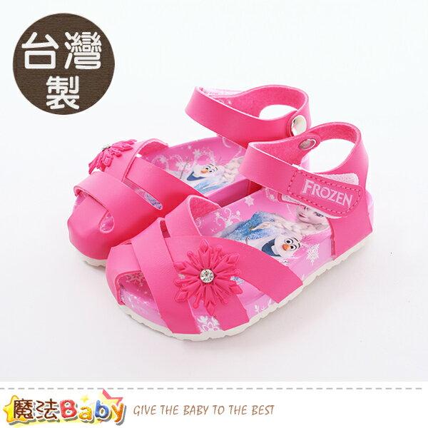 女童鞋台灣製冰雪奇緣正版兒童涼鞋魔法Baby~sa84182