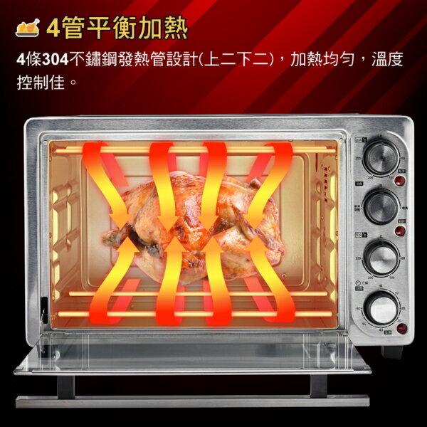 大家源35L旋風雙溫控專業電烤箱TCY-3809