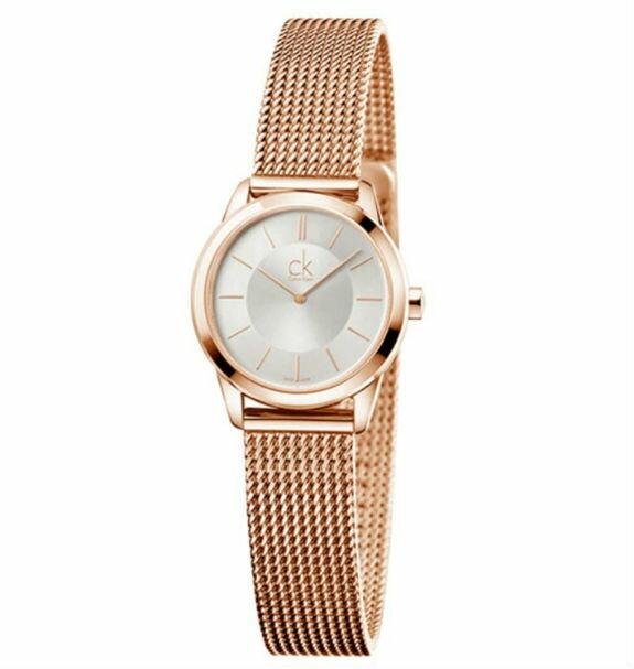 CK Calvin klein 卡文克萊 Minimal系列(K3M23626)時尚米蘭腕錶/白面24mm