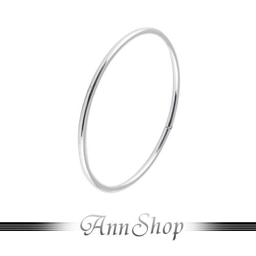 AnnShop~925純銀‧素圈圈純銀手環~銀飾飾品  情人 b9254