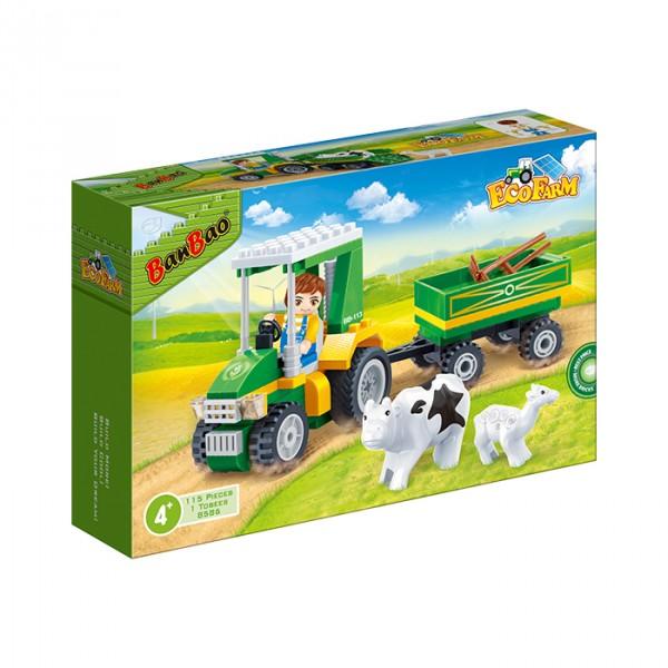 【BanBao 積木】開心農場系列-農場搬運車 8586  (樂高通用) (單筆訂單購買再加送積木拆解器一個)