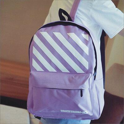 【素面印花斜紋後背包】 韓版流行後背包 學院風旅行包 書包-時尚玩包