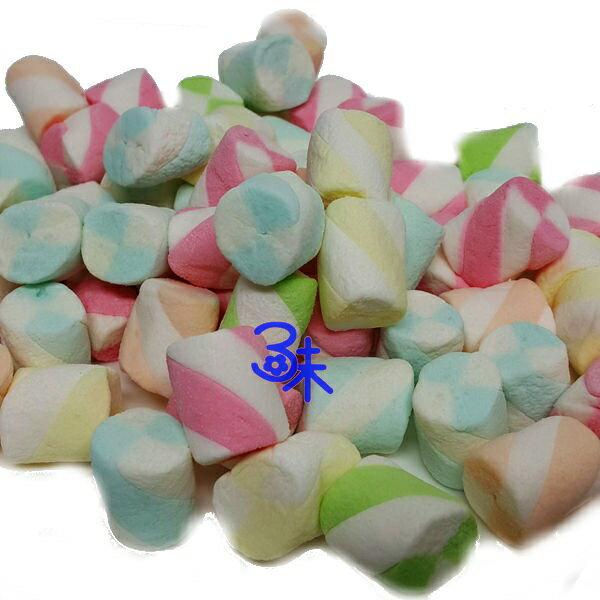 (菲律賓) 蜜意坊 造型棉花糖 (TO-09 雙色卷2cm ) 1包1公斤 特價168元 (雪Q餅、雪花餅原料)