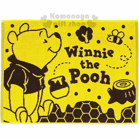 〔小禮堂〕迪士尼 小熊維尼 毛巾腳踏墊《黃.蜜蜂.蜂蜜罐.點點.60x45cm》美化浴室空間