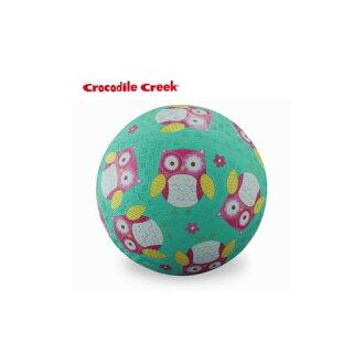★衛立兒生活館★美國Crocodile Creek 兒童運動遊戲球7吋-親親貓頭鷹
