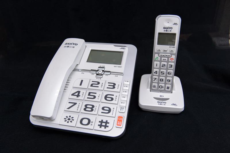 【DCT-8907】三洋 2.4 GHz 數位無線親子機 SANYO DCT-8907