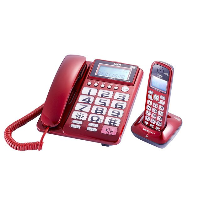 【DCT-8908】三洋 2.4 GHz 數位無線親子機 SANYO DCT-8908 福利品小刮傷   福利品推薦3C家電