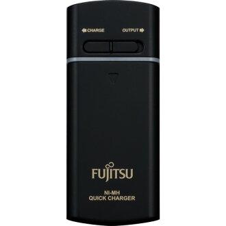 【FSC321FX-B】Fujitsu 富士通 充電電池 FSC321FX-B 3號充電電池2入+充電器(黑色)