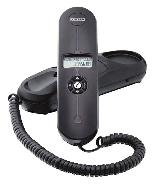 【福利品有刮傷】 阿爾卡特 Alcatel 壁掛式有線電話 Temporis 05 黑