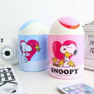 正版史努比圓型迷你垃圾桶 桌上型雜物桶 收納桶 置物桶 文具收納 桌上收納 Snoopy 史奴比 台灣製【N200275】