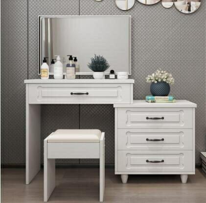 梳妝台臥室現代簡約小戶型化妝櫃網紅ins化妝桌收納櫃一體化妝台
