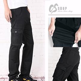 【CS衣舖 】高質感 高彈力 舒適 耐穿 多口袋工作褲7166