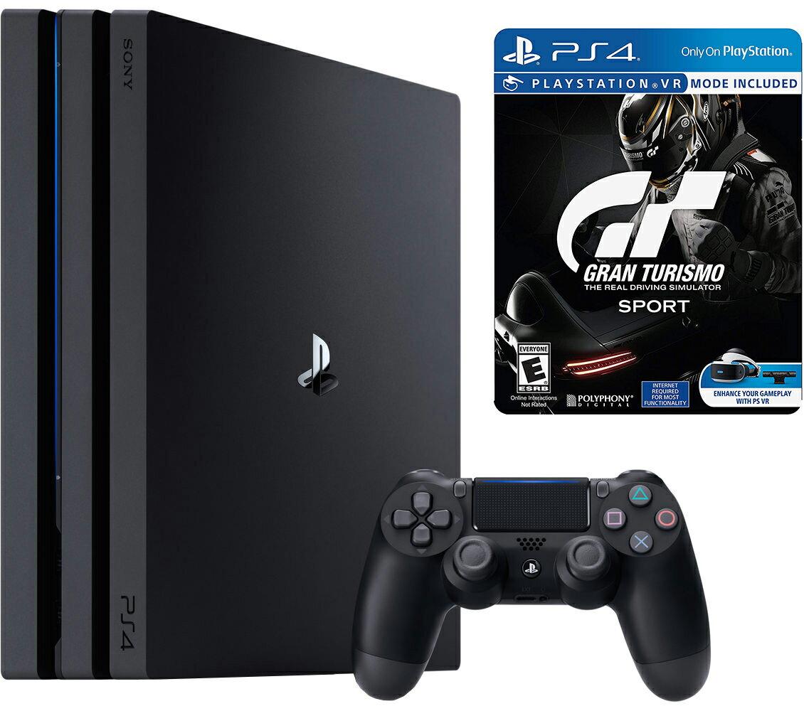 Sony Playstation 4 Pro 1TB Console & Gran Turismo Sport Steelbook Bundle