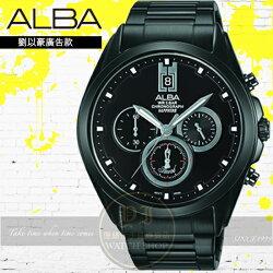 ALBA劉以豪代言品味型男三環計時紳士腕錶VD53-X264SD/AT3B07X1公司貨/劉以豪廣告款