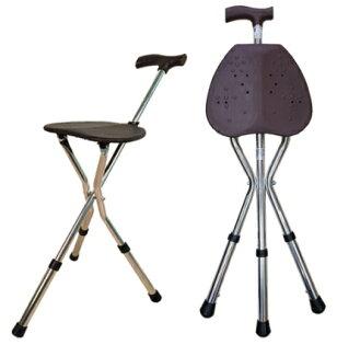 【銀元氣屋】銀髮族行動手杖椅