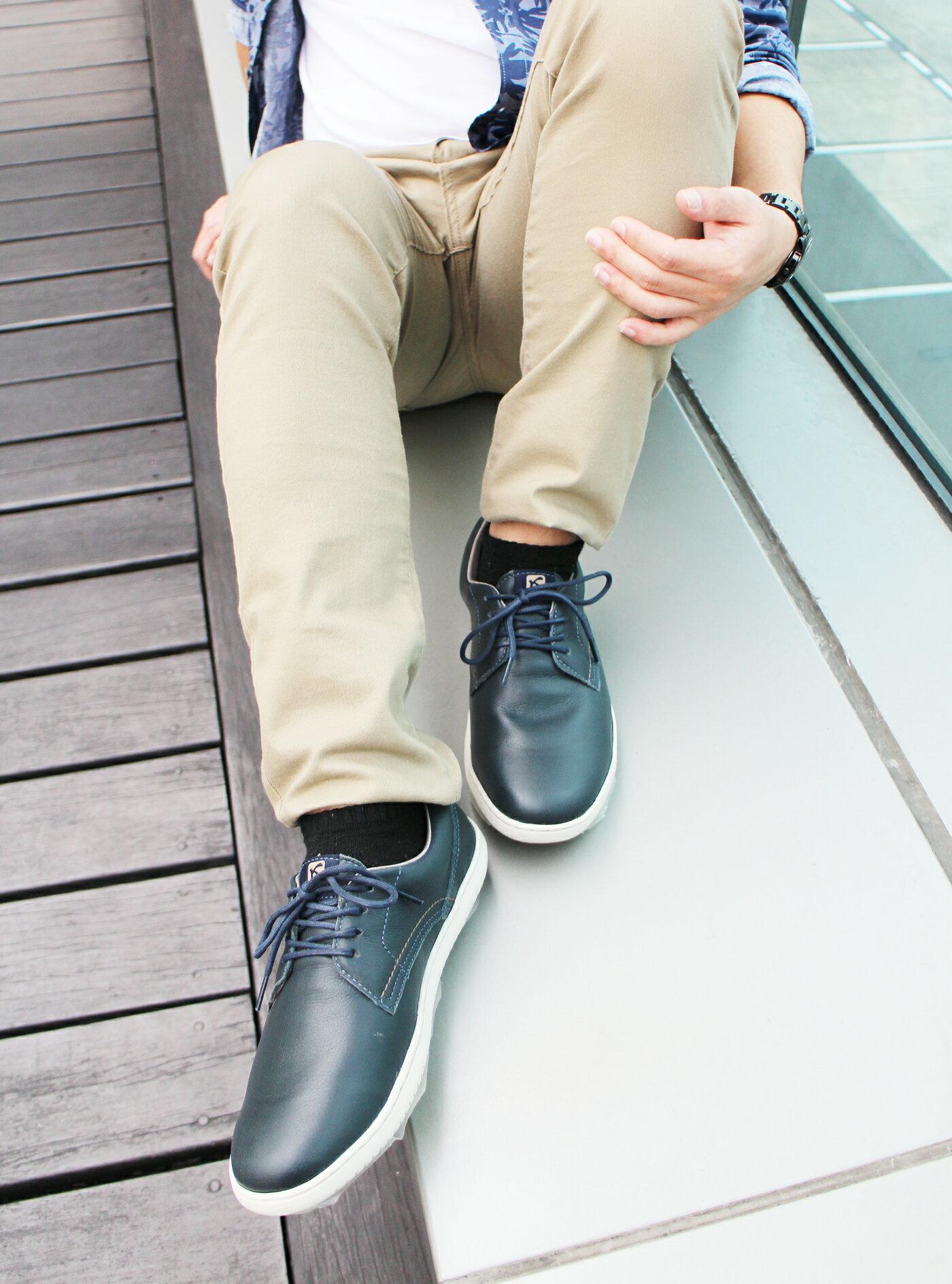 【KILDARE 促銷7折│全店免運】KILDARE綁帶休閒鞋 藍綠 男 慢跑 5