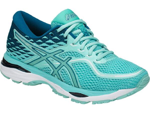 ASICS亞瑟士女慢跑鞋(藍粉)GEL-Cumulus19緩衝、輕量T7B8N-8888【胖媛的店】