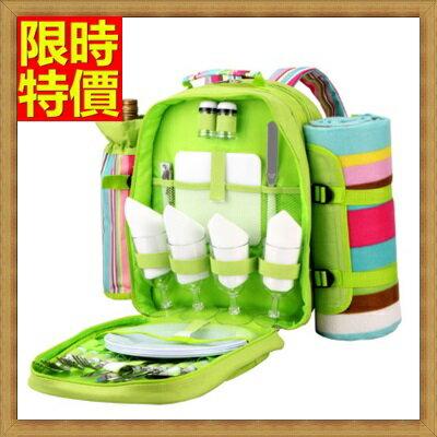 ☆野餐包+2人餐具組雙肩後背包-雙人套裝野外方便攜帶保溫燒烤野餐包+68ag8【獨家進口】【米蘭精品】