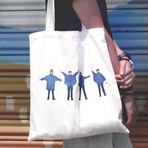 帆布包 環保包 歐美獨創SEIO 自定款設計環保帆布包 The Beatles 披頭四 可愛藍衣造型 手拿肩背包