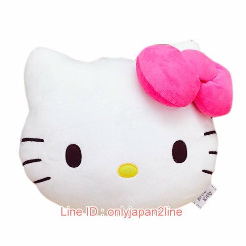 【真愛日本】17012300006頭型暖手枕-KT花布  三麗鷗 Hello Kitty 凱蒂貓   暖手枕  靠枕  抱枕