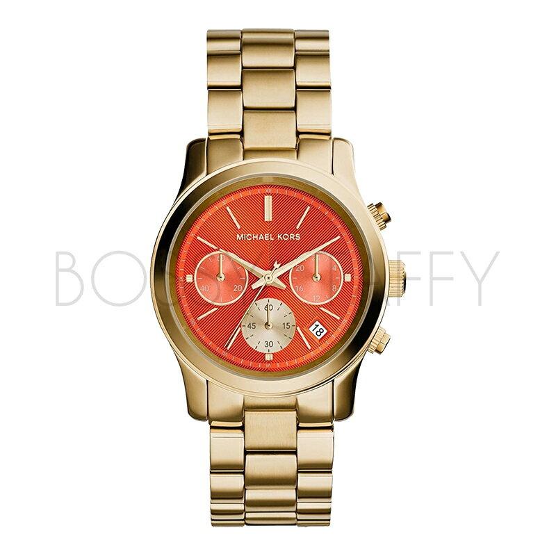 MK6162 MICHAEL KORS 時髦橘面金色錶帶腕錶 手錶
