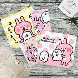 LINE 卡娜赫拉 兔兔P助 手提袋 便當袋 購物袋 附筆記本 配件 正版日本授權 JustGirl