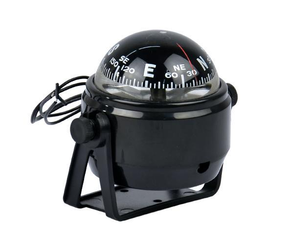 Sea Marine Electronic Digital Compass Boat Caravan Truck 12V LED Light Black 0