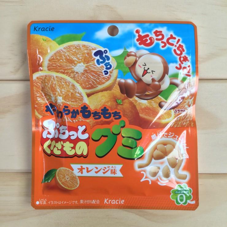 噗啾系列 日本進口 KRACIE 造型軟糖 橘子口味 (25g)