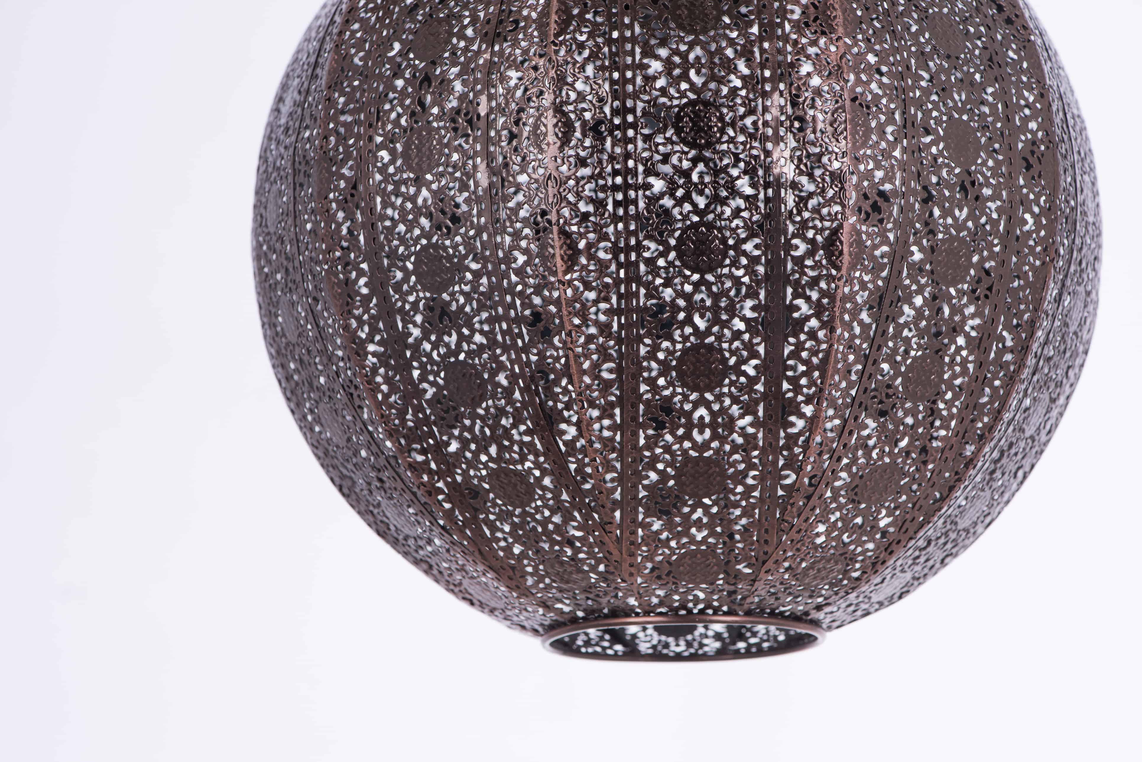 紅銅刷黑蕾絲花邊圓形吊燈-BNL00075 1