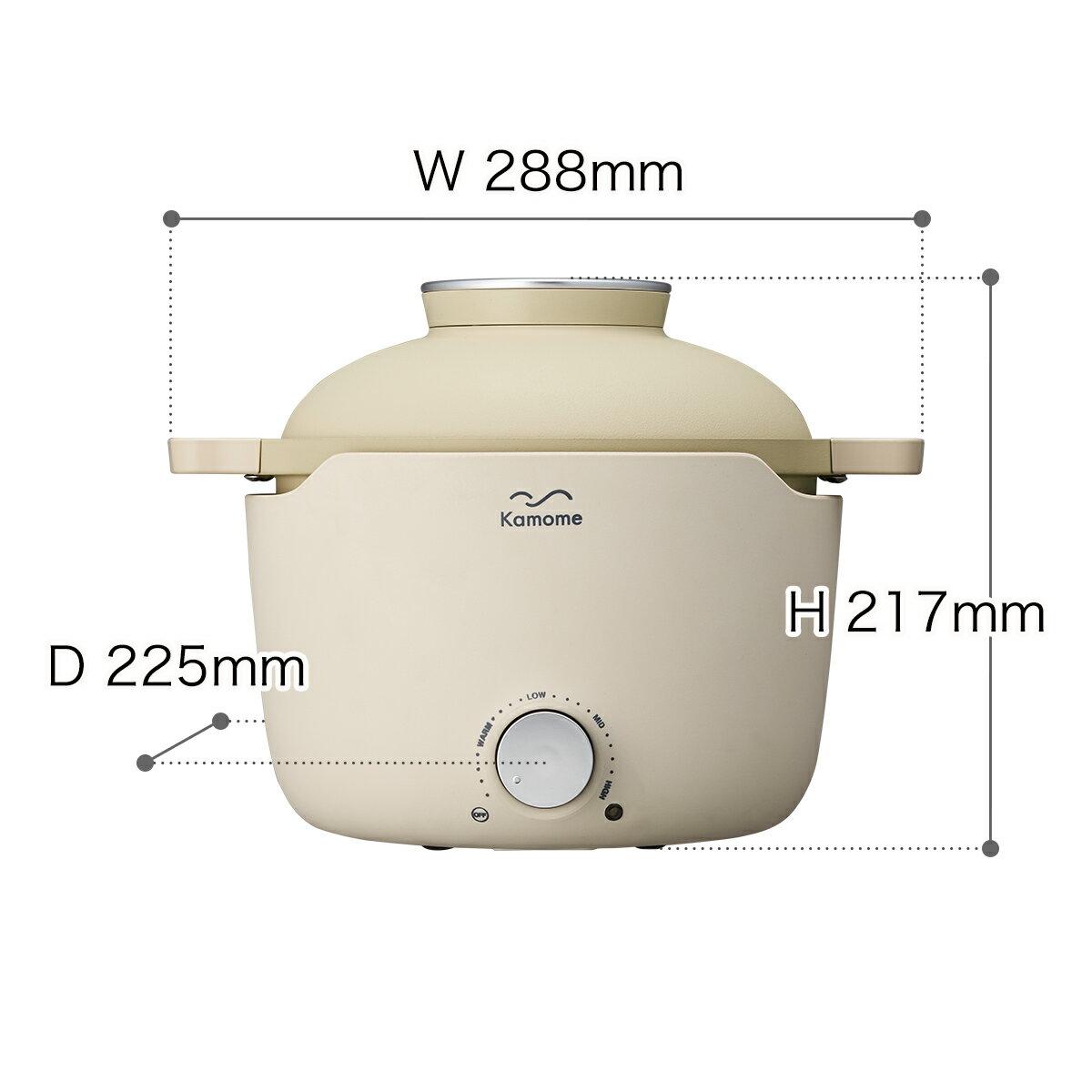 日本Kamome Grill Pan  /  時尚多功能電氣鍋 電子鍋 燉鍋 IH對應  /  K-GP1。日本必買 日本樂天代購(14168) 6