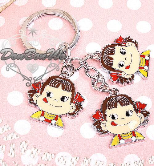 日本不二家牛奶妹吊飾鑰匙圈三個頭072703海渡
