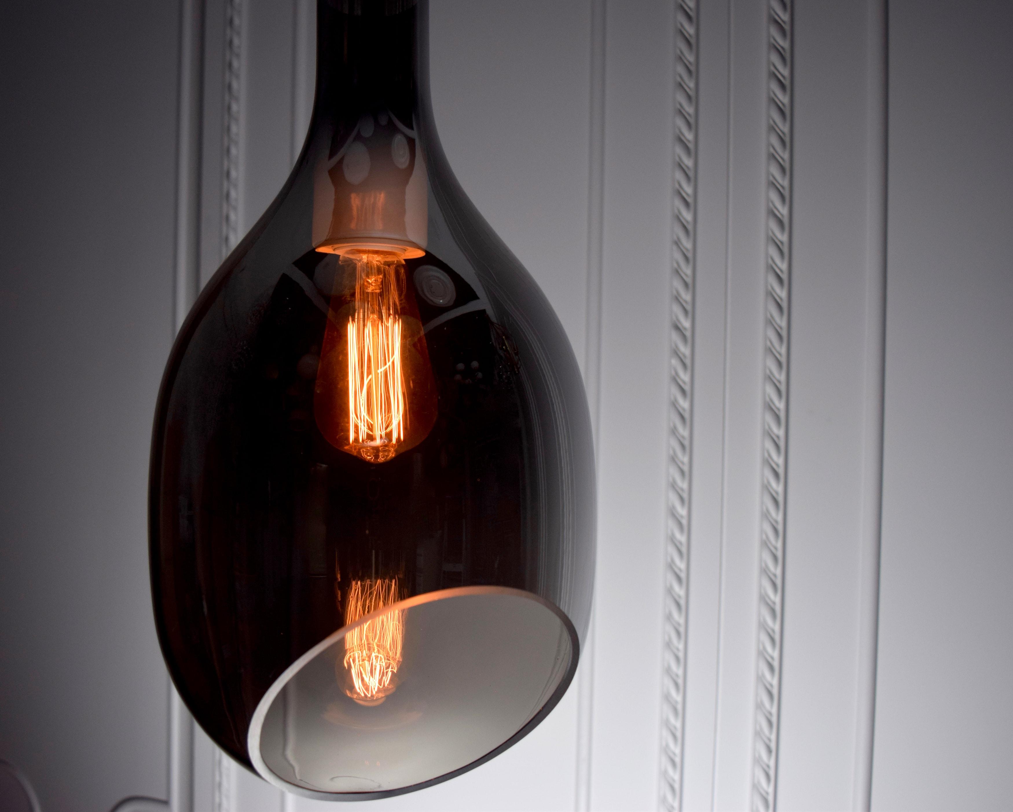 VESSEL 斜口玻璃煙灰色吊燈-BNL00127 4