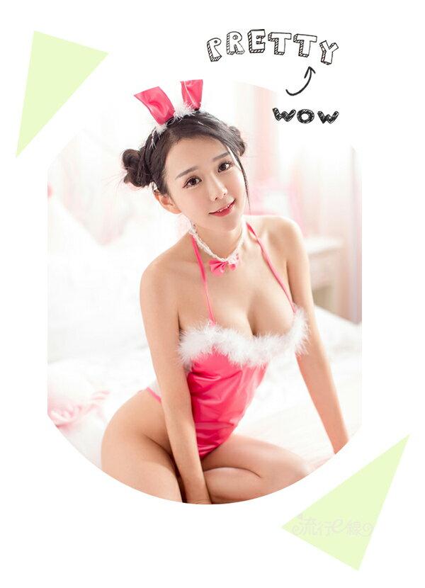 兔女郎 透明薄紗兔女郎角色扮演制服兔女制服cosplay服裝派對性感制服~流行E線A7180