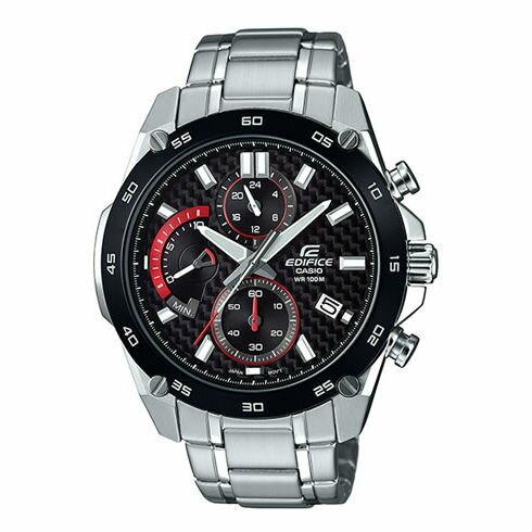 CASIOEDIFICEEFR-557CDB-1A三針三眼錶賽車概念時尚競速三眼腕錶47mm