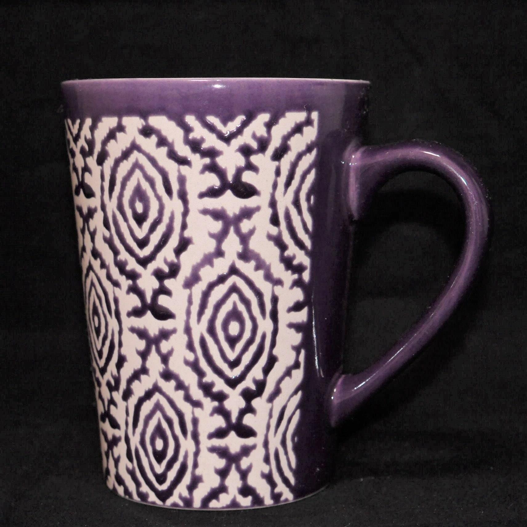 馬克杯紫色幾何紋500ml【曉風】 2