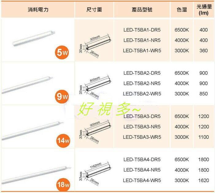好視多~ 舞光 18W LED 支架燈 層板燈 4尺 (附串接線)