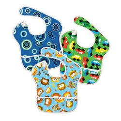 【淘氣寶寶】美國 Bumkins 防水兒童圍兜(一般無袖款 6個月~2歲適用)(3入) B5男生款【保證公司貨】