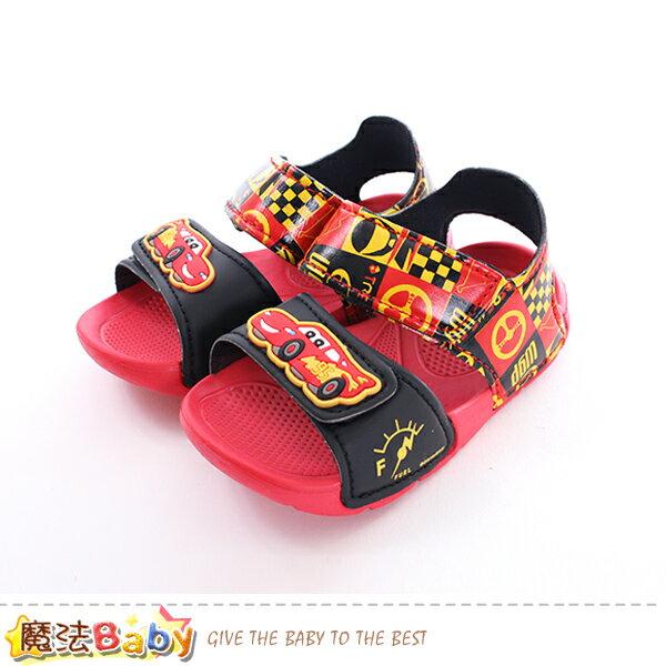 男童涼鞋迪士尼閃電麥坤正版超輕量涼鞋魔法Baby~sk0417