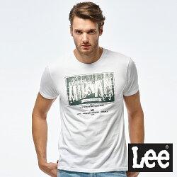 Lee 牛仔照片印刷短袖圓領TEE/RG-白色-男款