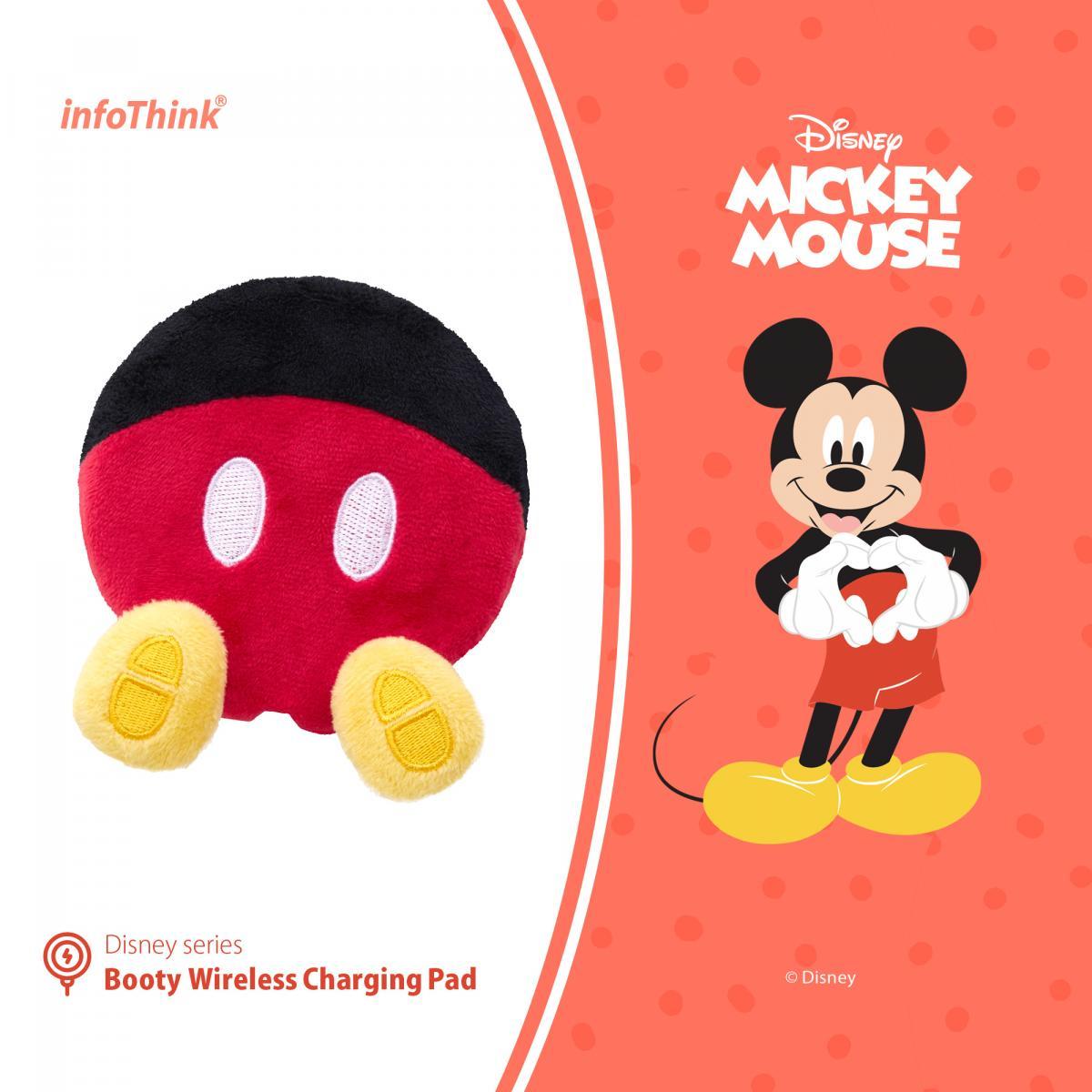 infoThink 迪士尼系列電臀無線充電座- 米老鼠(米奇) 史迪奇 維尼 唐老鴨 手機充電盤 無線充電器 正版3C